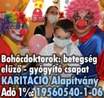 gyógyító gyermekmentő támogatás bohócdoktorok a beteg gyerekekért
